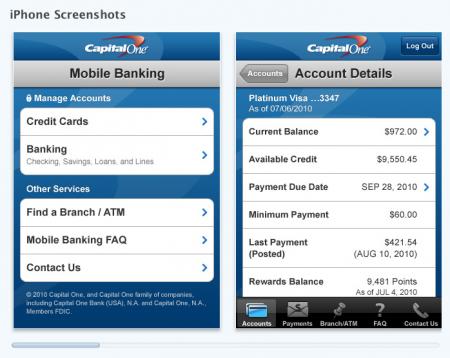 Capital One iPhone App