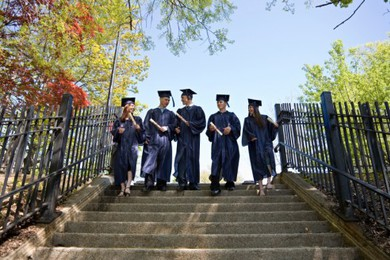 College Students Graduate