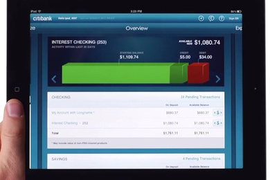 Citibank iPad App