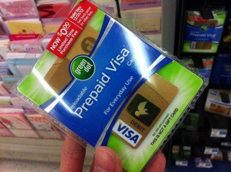 Green Dot Prepaid Visa Card