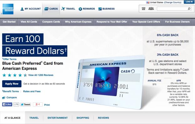 BlueCashPreferredcard AMEX