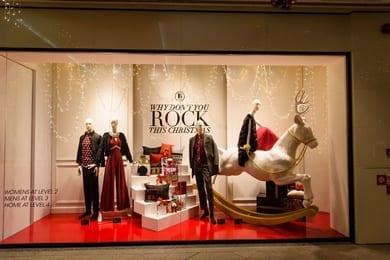 Holiday Shopping window