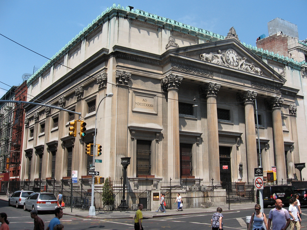 Bowery Savings Bank, now Capitale (130 Bowery)
