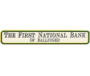 The First National Bank of Ballinger logo