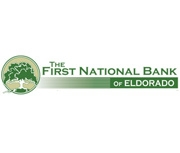 The First National Bank of Eldorado logo