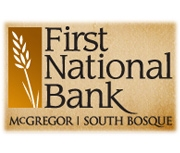 The First National Bank of Mcgregor logo