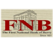 The First National Bank of Barry logo