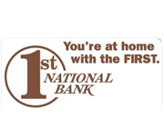 The First National Bank of Texhoma logo