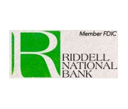 The Riddell National Bank logo