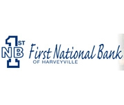The First National Bank of Harveyville logo