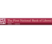 The First National Bank of Liberal logo