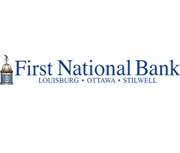 The First National Bank of Louisburg logo