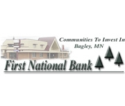 The First National Bank of Bagley logo