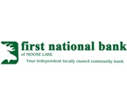 The First National Bank of Moose Lake logo