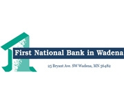 The First National Bank In Wadena logo