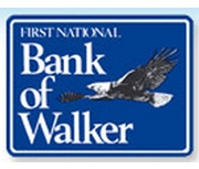 The First National Bank of Walker logo