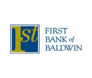 The First Bank of Baldwin logo