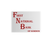 The First National Bank of Gordon logo
