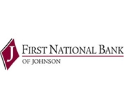 The First National Bank of Johnson logo