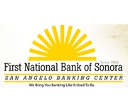 The First National Bank of Sonora logo
