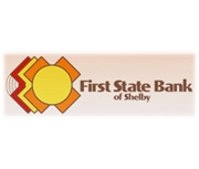 The First State Bank of Shelby logo