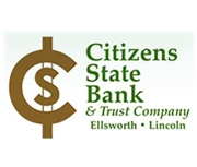Citizens State Bank and Trust Co., Ellsworth, Kansas logo