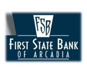 The First State Bank of Arcadia logo