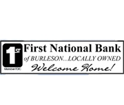 First National Bank of Burleson logo