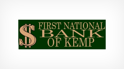 The First National Bank of Kemp Logo