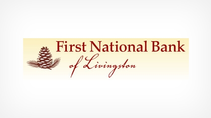 The First National Bank of Livingston logo