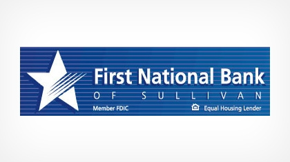 The First National Bank of Sullivan logo