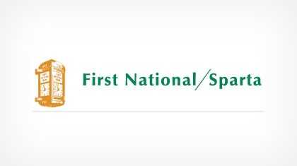 The First National Bank of Sparta logo