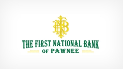 The First National Bank of Pawnee logo