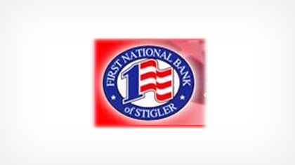 The First National Bank of Stigler logo