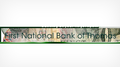 The First National Bank of Thomas Logo