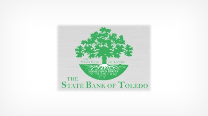 The State Bank of Toledo logo