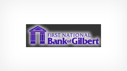 The First National Bank of Gilbert logo