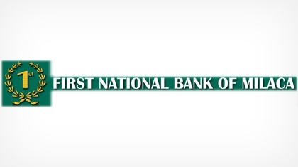 The First National Bank of Milaca logo