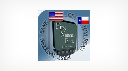 The First National Bank of Tom Bean logo
