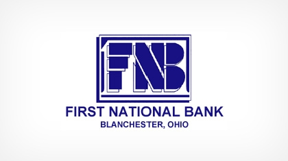 The First National Bank of Blanchester logo