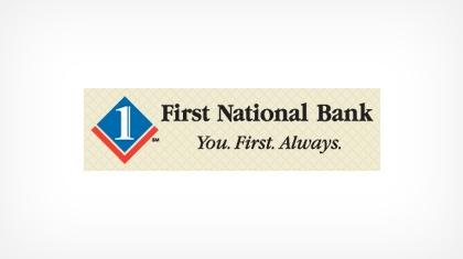 The First National Bank of Pandora logo