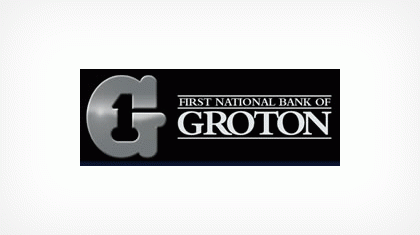 The First National Bank of Groton logo