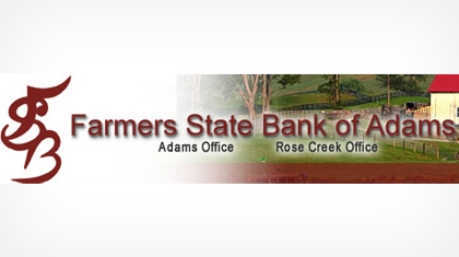 Farmers State Bank of Adams, Minnesota logo