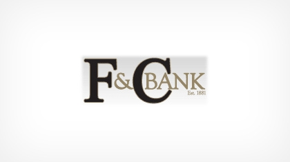 F & C Bank logo