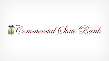 Commercial State Bank, of Wagner logo
