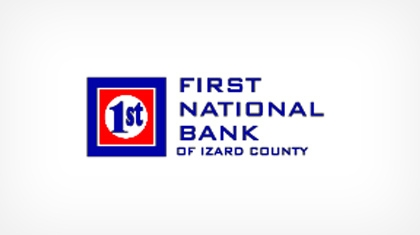 The First National Bank of Izard County logo