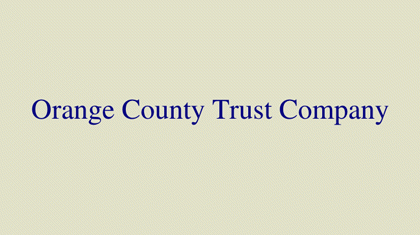 Orange County Trust Company logo