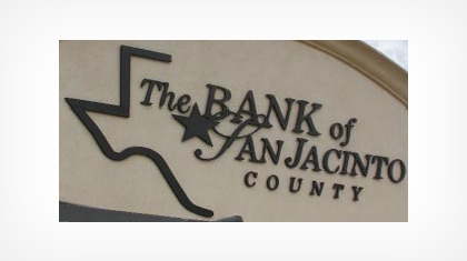 The Bank of San Jacinto County, Coldspring, Texas logo