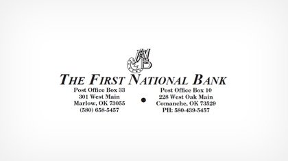 The First National Bank In Marlow logo