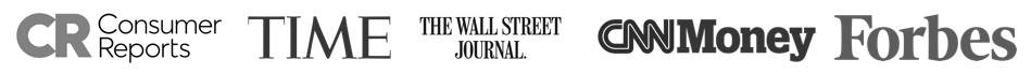 featured by Consumer Reports, Time, The Wall Street Journal, CNN Money, and Forbes